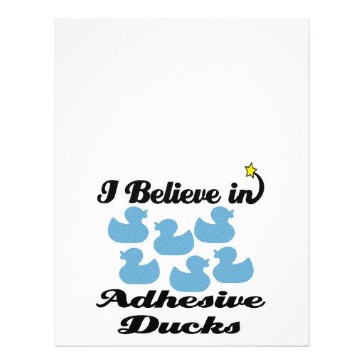 i believe in adhesive ducks flyer design
