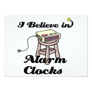 i believe in alarm clocks custom invitations