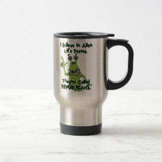I Believe in Alien Life Forms, Republicans Alien 15 Oz Stainless Steel Travel Mug