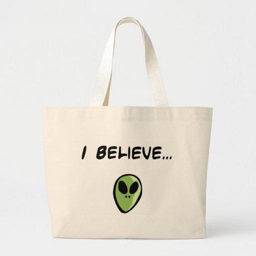 I Believe in Aliens Bags