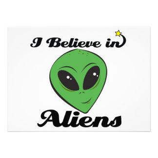 i believe in aliens custom invite