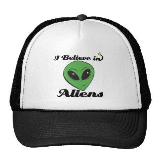 i believe in aliens trucker hats