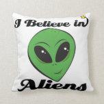 i believe in aliens pillow