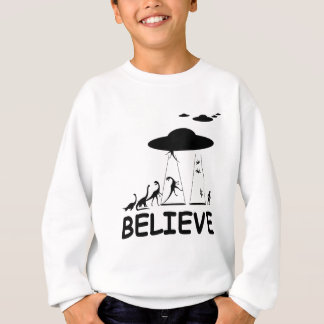 I believe in aliens sweatshirt