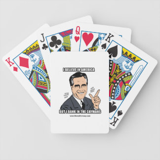 I BELIEVE IN AMERICA BUT I BANK IN THE CAYMANS BICYCLE PLAYING CARDS
