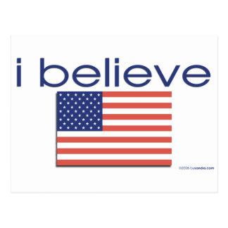 I believe in America Postcard