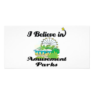 i believe in amusement parks photo card