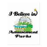 i believe in amusement parks postcards