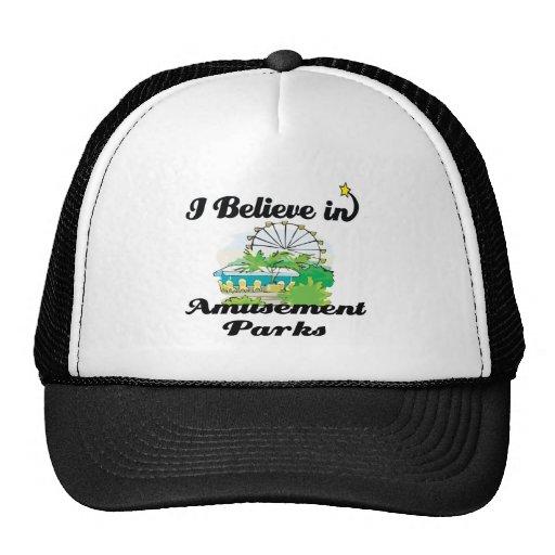 i believe in amusement parks trucker hat
