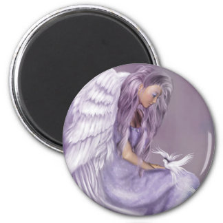 I Believe In Angels 2 Inch Round Magnet
