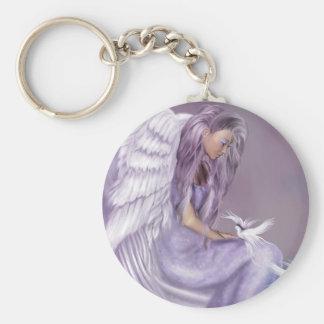 I Believe In Angels Basic Round Button Keychain