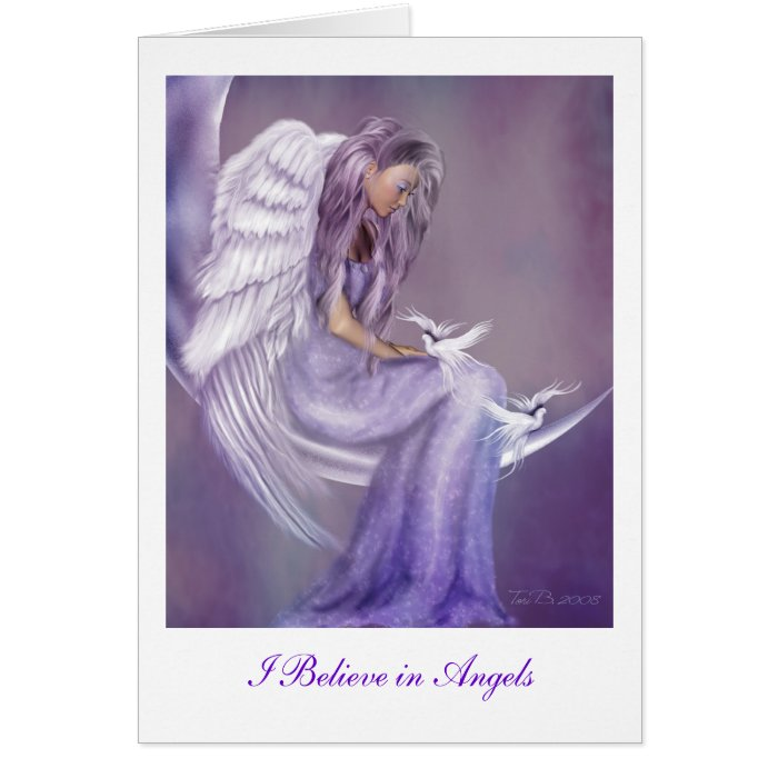 I Believe In Angels Card