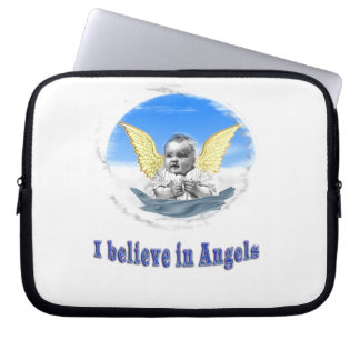 I believe in angels gifts laptop sleeve