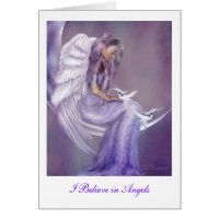 I Believe In Angels Greeting Cards
