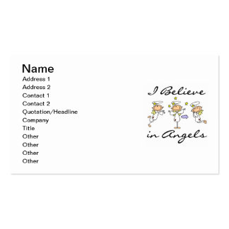 I Believe in Angels T-shirts and Gifts Double-Sided Standard Business Cards (Pack Of 100)