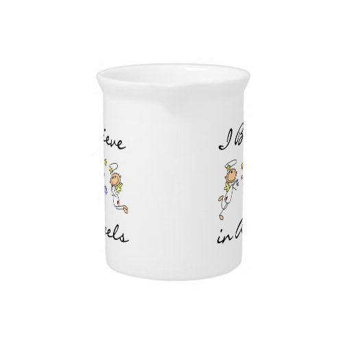 I Believe in Angels T-shirts and Gifts Drink Pitchers
