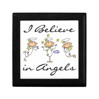 I Believe in Angels T-shirts and Gifts Keepsake Box