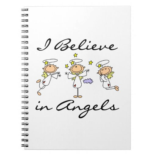 I Believe in Angels T-shirts and Gifts Spiral Note Books