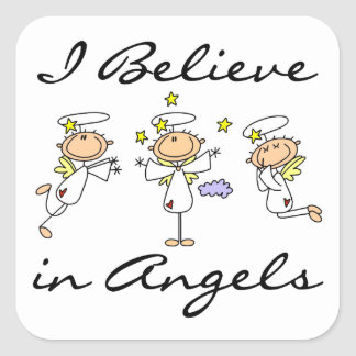 I Believe in Angels T-shirts and Gifts Square Sticker