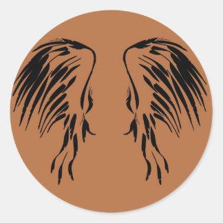 I believe in Angels wing design Classic Round Sticker