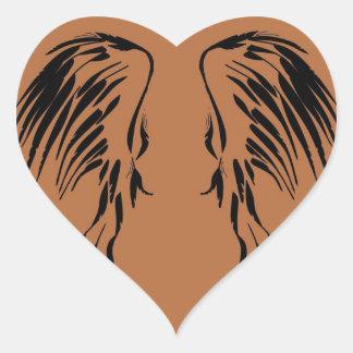 I believe in Angels wing design Heart Sticker