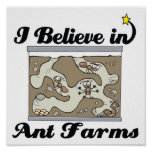i believe in ant farms posters