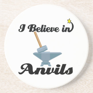 i believe in anvils drink coaster