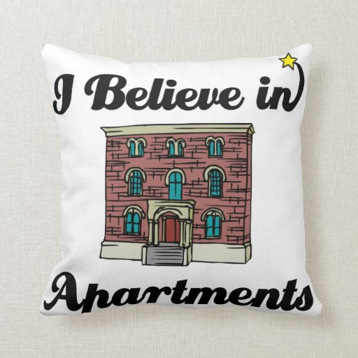i believe in apartments throw pillows