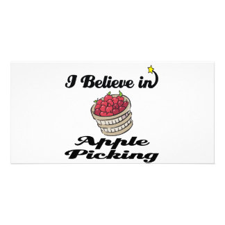 i believe in apple picking photo card template