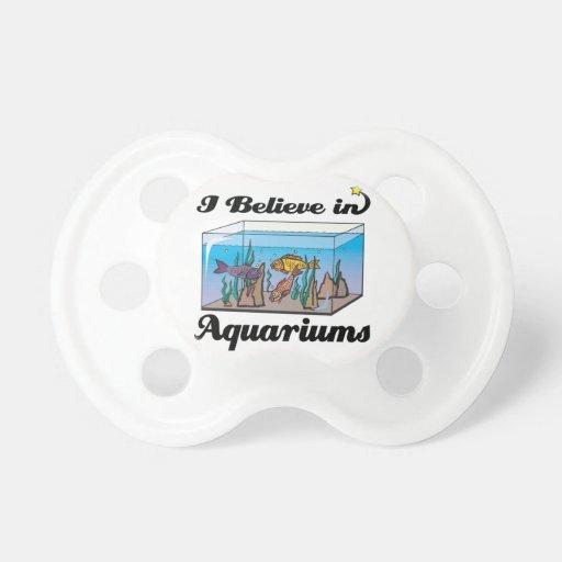 i believe in aquariums BooginHead pacifier