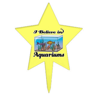 i believe in aquariums star cake toppers