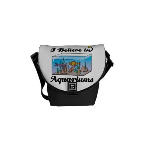 i believe in aquariums messenger bags