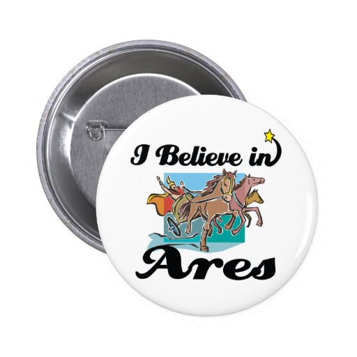 i believe in Ares 2 Inch Round Button