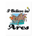 i believe in Ares Postcard