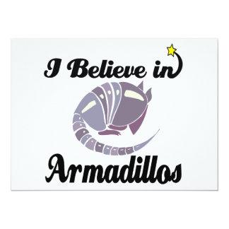 i believe in armadillos 5.5x7.5 paper invitation card