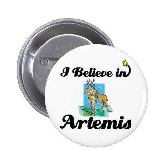 i believe in Artemis 2 Inch Round Button