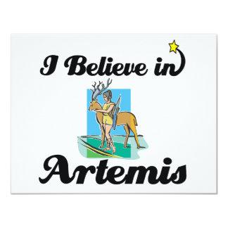 i believe in Artemis 4.25x5.5 Paper Invitation Card