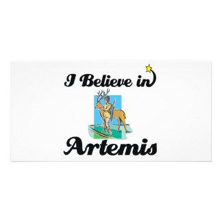 i believe in Artemis Photo Card Template