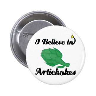 i believe in artichokes button