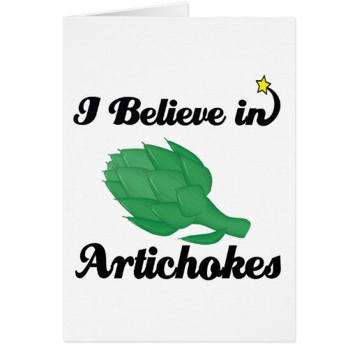 i believe in artichokes greeting card