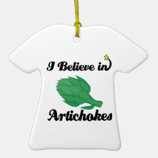 i believe in artichokes ornaments