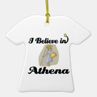 i believe in athena christmas ornament