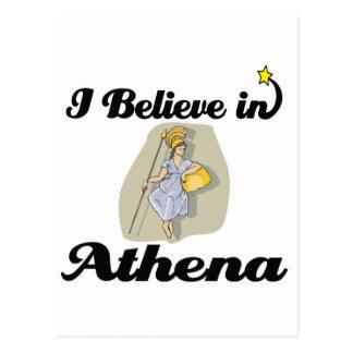 i believe in Athena Postcard