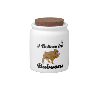 i believe in baboons candy dish