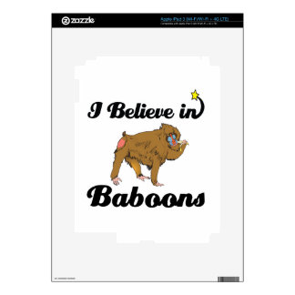 i believe in baboons decal for iPad 3