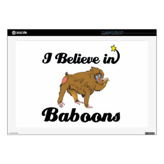 i believe in baboons laptop skins