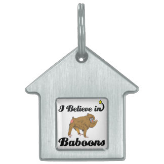 i believe in baboons pet name tag
