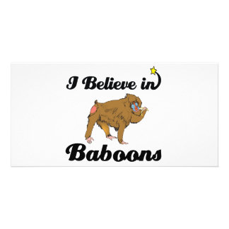i believe in baboons photo card