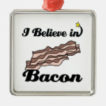 i believe in bacon christmas tree ornaments