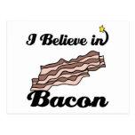 i believe in bacon postcard
